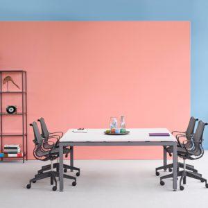 mesa de oficina sense, de herman miller