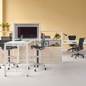mesa alta de oficina herman miller sense